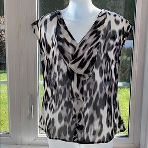Worthington Petite Small Black/white animal print